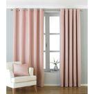 Riva Paoletti Atlantic Ringtop Eyelet Curtains (Blush) (46 x 54 in)