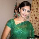 Desi Girl Indian in See Green Saree