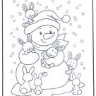 Free coloring pages rabbit - Winter animals
