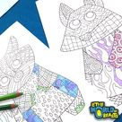 Woodland Animals - 4 Pattern Coloring Pages Download