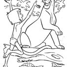 Mowgli Is Happy Meet Bagheera In The Jungle Book Coloring Page