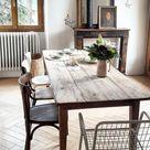 Salle à manger avec table de ferme