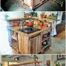 DIY-Paletten-Küchen-Insel #kuchentisch DIY-Paletten-Küchen-Insel   #insel #kuc...