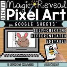 Spring Digital Pixel Art Magic Reveal ADDITION & SUBTRACTION