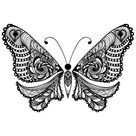 Free Adult Coloring: Butterfly Page 2 - KidsPressMagazine.com