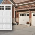 A Stained Steel Garage Door Adds Warmth To This
