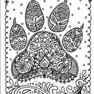 INSTANT Download Dog Paw Print You be the Artist Dog | Etsy