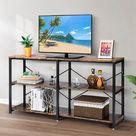 VIVOHOME 55 Inch 3-Tier Console Sofa Table Storage Open Shelve
