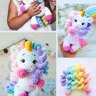 Crochet Unicorn pattern PDF English Amigurumi Plush Rainbow Unicorn crochet pattern toy PDF tutorial