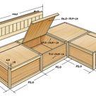 Gemauerte Sitzecke mit Stauraum für Spiele, Bücher oder Knabberzeug