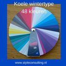 Informatie, kenmerken, kleren, kleuren, make-up wintertype.