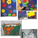 Children's Quiet Book, Quiet book for toddler, Busy book, Sensory book, Fine motor skills,  6 pages + cover +  storage bag  (2-5 years)