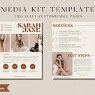 Media Kit Template for Canva | Media Press Kit Template | Social Media Influencer Media Kit Template | Media Kit Template