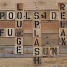 Scrabble Wall