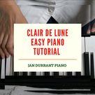 Claire de Lune Easy Piano Tutorial Simplified #classical music #piano