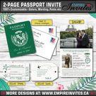 Passport Invitation for a destination wedding - Custom made invites | Handmade in Canada by ---- www.empireinvites.ca