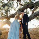 Thigh Split Sky Blue Rustic Wedding Dresses Beach Wedding Gown with Court Train ARD1325 - Sky Blue / US18W