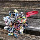 Comic Ornament. CHOOSE YOUR COMICS! Kusudama Origami. Christmas, Birthday, First Anniversary. Custom Orders Welcome. Holiday.