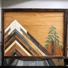 Wood Mountain Wall Art Reclaimed Wood Wall Art Mountain   Etsy