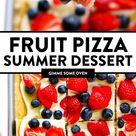Fruit Pizza Summer Dessert