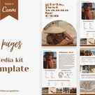 Media Kit Template Canva - Blog Rate Sheet - Blogger Media Kit - Influencer Media Kit - Instagram Rate Card - Press Kit - The Coco Palette