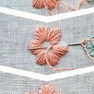 Plattstich Blumen sticken - der Allrounder