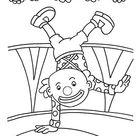 Ausmalbild Clown macht Handstand zum gratis ausdrucken