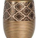 Popular Bath Shower Curtain, Spindle Collection, 70 x 72, Gold   Waste Basket