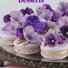 Purple Flower Desserts