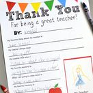 Teacher Thank You Cards