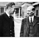 A2 Poster. King George VI and Clement Attlee, Buckingham Palace,