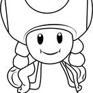 Toadette Coloring Page for Kids - Free Super Mario Printable Coloring Pages Online for Kids - ColoringPages101.com | Coloring Pages for Kids