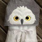 Snowy Owl Peeker Embroidery Applique