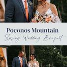 Spring Wedding Bouquets Peonies Romantic | Poconos Wedding | Micro wedding ideas