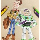 toy story 4 characters drawing