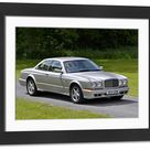 Large Framed Photo. Bentley Continental R, 2002, Silver