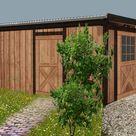 Individuellen Carport mit Gerätehaus selber bauen. Die Planung