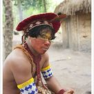 A1 Poster. Brazil, Bahia, Porto Seguro, Pataxo indigenous Brazilian in the Jaqueira Pataxo