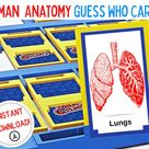 Human Anatomy Guess Who - Printable Guess Who? Human Body - Guess Who Body Parts - Anatomy Guess Who - Printable INSTANT Digital Download!