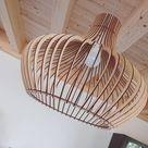 KWUD Modern Scandinavian Style Ceiling Mount Wood Pendant   Etsy