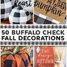 30 Buffalo Check DIY Fall Decor Ideas