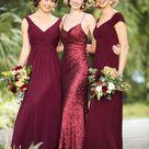 Trends We Love: Mixed Berry Bridal Parties - Pretty Happy Love - Wedding Blog   Essense Designs Wedding Dresses
