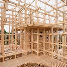 Rahmen für Räume Holzpavillon in Lausanne