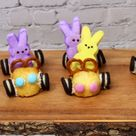 Easter Peeps Race Cars