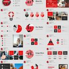 27+ Best Red business charts PowerPoint templates downl