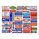 Airmail Labels REAL STICKERS World Air Mail Tags Aviation | Etsy