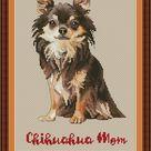 Chihuahua mom cross stitch pdf pattern   Etsy