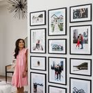 How We Created An Elegant Custom Gallery Wall with Framebridge - Color & Chic
