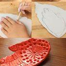 Kids Craft: Mid Century Ceramic Hand Dish   My Poppet Makes