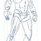 How to draw Iron Man   Step by step Drawing tutorials